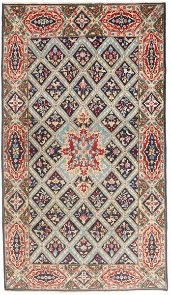 Kerman Patina Matta 120X212 Äkta Orientalisk Handknuten Ljusbrun/Ljusgrå (Ull, Persien/Iran)