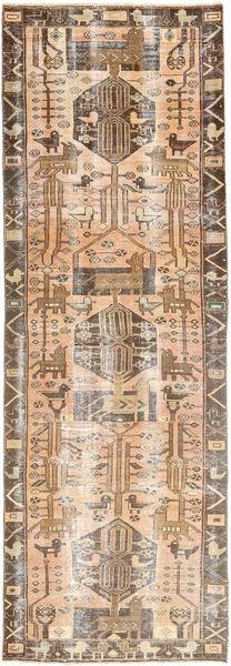 Colored Vintage Tapis 105X320 Moderne Fait Main Tapis Couloir Marron/Beige (Laine, Perse/Iran)
