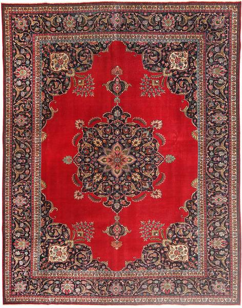 Tabriz Patina Matto 292X378 Itämainen Käsinsolmittu Tummanpunainen/Punainen Isot (Villa, Persia/Iran)