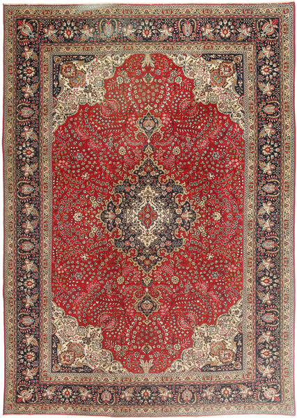 Tabriz Patina Matto 243X340 Itämainen Käsinsolmittu Vaaleanruskea/Tummanpunainen (Villa, Persia/Iran)
