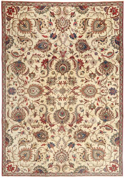 Tabriz Patina Matto 240X345 Itämainen Käsinsolmittu Vaaleanruskea/Beige (Villa, Persia/Iran)