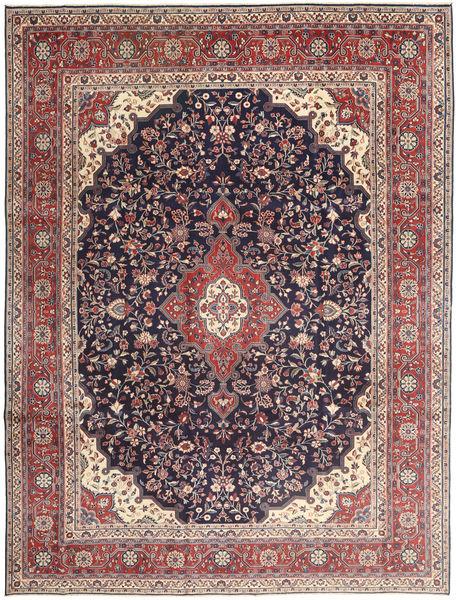 Hamadan Patina Matta 268X355 Äkta Orientalisk Handknuten Mörklila/Beige Stor (Ull, Persien/Iran)