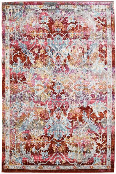 Melissa Matto 152X240 Moderni Vaaleanharmaa/Tummanpunainen ( Turkki)