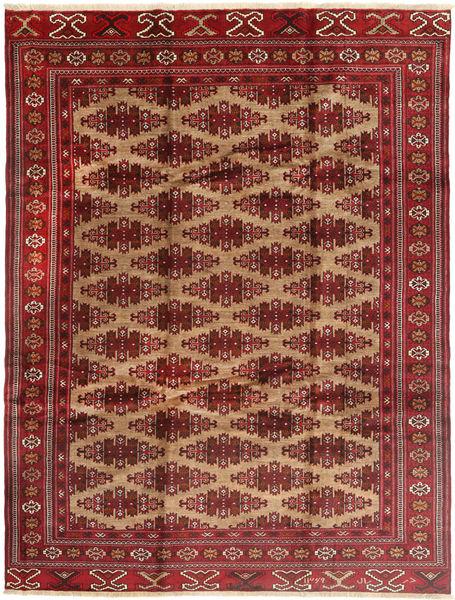 Turkaman Rug 235X315 Authentic  Oriental Handknotted Dark Red/Brown (Wool, Persia/Iran)