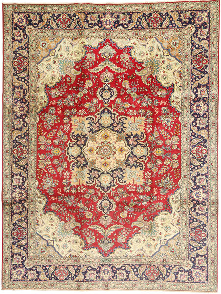 Tabriz Rug 245X340 Authentic  Oriental Handknotted Light Brown/Brown (Wool, Persia/Iran)