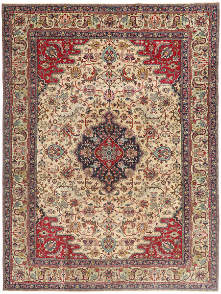 Tabriz Patina Rug 225X332 Authentic  Oriental Handknotted Light Brown/Beige (Wool, Persia/Iran)