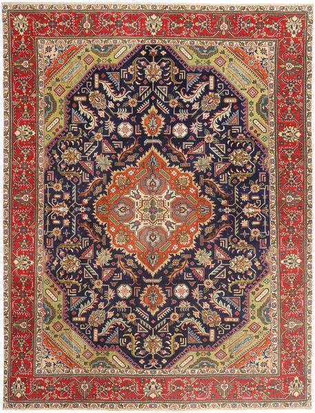 Tabriz Patina Matto 300X395 Itämainen Käsinsolmittu Tummanpunainen/Tummanharmaa Isot (Villa, Persia/Iran)