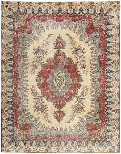 Tabriz Patina Matto 272X352 Itämainen Käsinsolmittu Vaaleanruskea/Beige Isot (Villa, Persia/Iran)