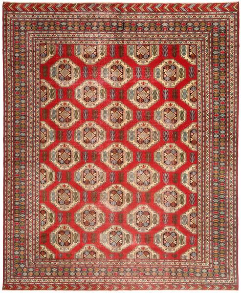 Turkaman Patina Teppe 303X380 Ekte Orientalsk Håndknyttet Lysbrun/Mørk Rød Stort (Ull, Persia/Iran)