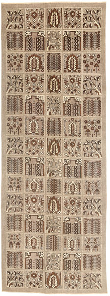 Tabriz Patina Matto 125X360 Itämainen Käsinsolmittu Käytävämatto Vaaleanruskea/Ruskea (Villa, Persia/Iran)