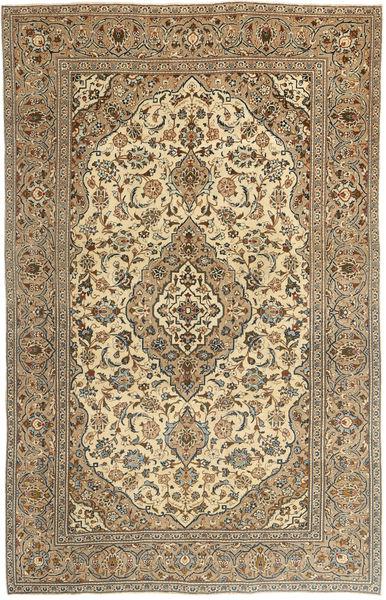 Keszan Patina Dywan 195X303 Orientalny Tkany Ręcznie Ciemnobeżowy/Jasnobrązowy (Wełna, Persja/Iran)