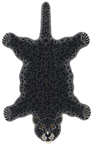 Leopard - Black Rug 100X160 Modern Dark Grey (Wool, India)