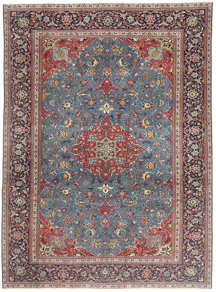 Keshan Patina Rug 196X275 Authentic  Oriental Handknotted Light Brown/Dark Grey (Wool, Persia/Iran)