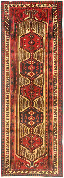 Sarab Rug 110X332 Authentic  Oriental Handknotted Hallway Runner  Rust Red/Dark Brown (Wool, Persia/Iran)
