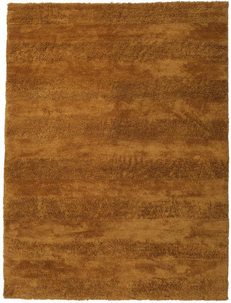 New York - Mosterd Geel Vloerkleed 300X400 Modern Bruin/Donkerbruin Groot (Wol, India)