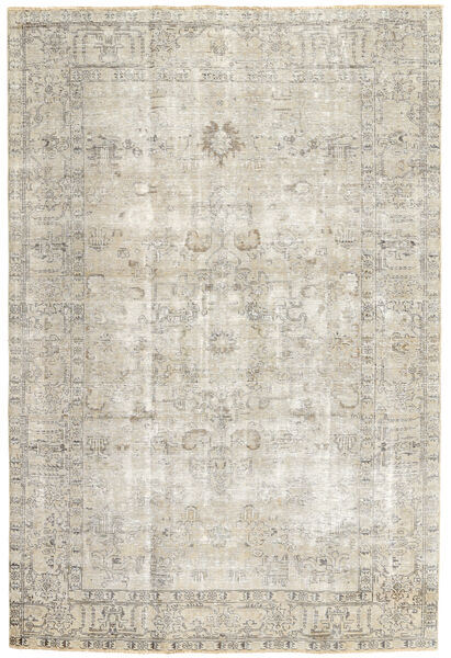 Colored Vintage Rug 190X277 Authentic  Modern Handknotted Light Grey/Dark Beige (Wool, Persia/Iran)