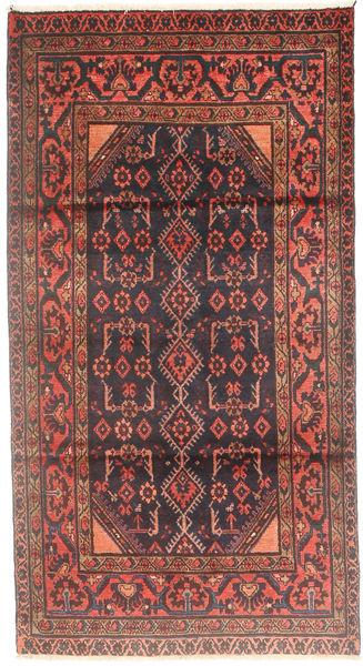 Hamadan Matto 110X200 Itämainen Käsinsolmittu Tummanpunainen/Ruskea (Villa, Persia/Iran)