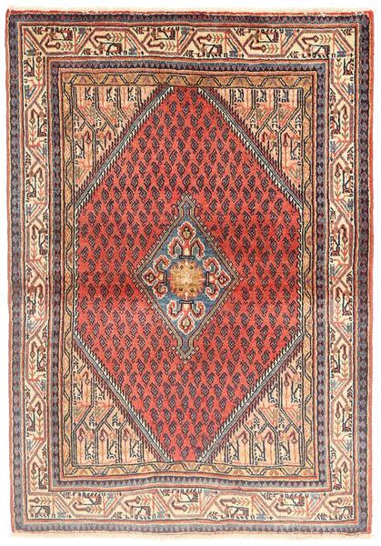 Sarouk Rug 110X160 Authentic  Oriental Handknotted Beige/Light Brown (Wool, Persia/Iran)