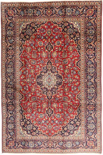 Keshan Rug 198X300 Authentic  Oriental Handknotted Dark Red/Dark Purple (Wool, Persia/Iran)