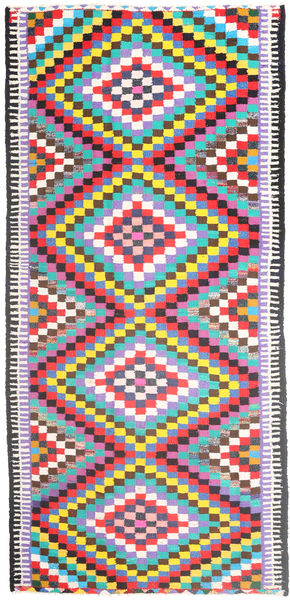 Kilim Rug 167X356 Authentic  Oriental Handwoven Hallway Runner  Pink/Beige (Wool, Persia/Iran)
