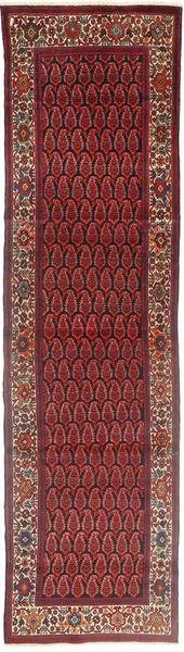 Hamadan Tapis 100X398 D'orient Fait Main Tapis Couloir Rouge Foncé/Noir (Laine, Perse/Iran)