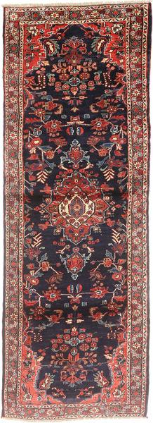 Hamadan Matto 105X300 Itämainen Käsinsolmittu Käytävämatto Tummanharmaa/Tummanruskea (Villa, Persia/Iran)