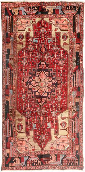 Nanadj Tappeto 150X310 Orientale Fatto A Mano Alfombra Pasillo Rosso Scuro/Marrone (Lana, Persia/Iran)