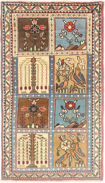Sarouk Rug 65X120 Authentic  Oriental Handknotted Dark Brown/Light Brown (Wool, Persia/Iran)