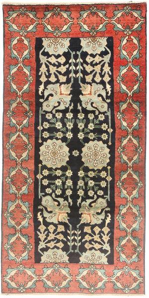 Tabriz Matta 100X207 Äkta Orientalisk Handknuten Mörkgrå/Mörkbeige (Ull, Persien/Iran)
