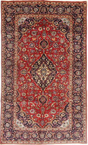 Keshan Rug 143X243 Authentic  Oriental Handknotted Dark Brown/Brown (Wool, Persia/Iran)