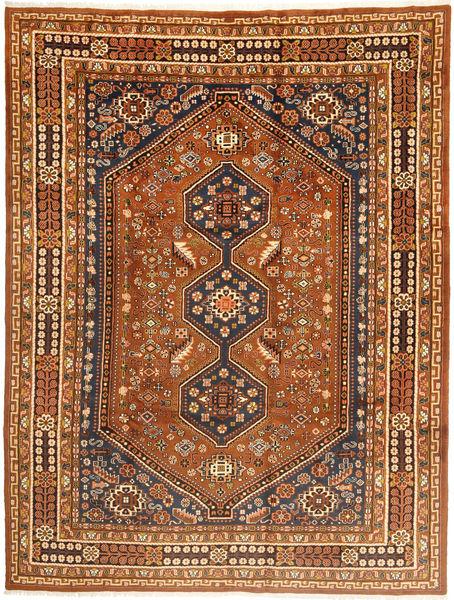 Hamadan Matto 259X348 Itämainen Käsinsolmittu Ruskea/Vaaleanruskea Isot (Villa, Persia/Iran)
