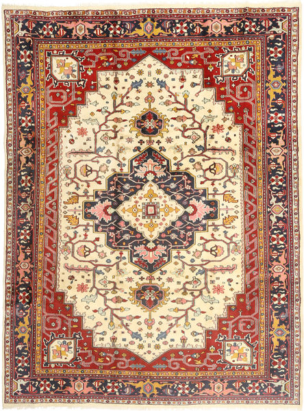 ヘリーズ 絨毯 253X350 オリエンタル 手織り 薄茶色/ベージュ 大きな (ウール, ペルシャ/イラン)