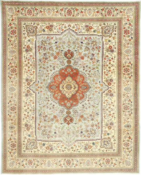 Tabriz Rug 240X305 Authentic  Oriental Handknotted Beige/Light Brown (Wool, Persia/Iran)