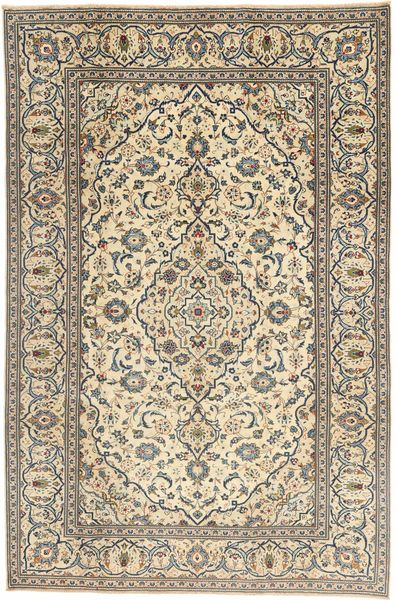 Keshan Patina Matto 195X302 Itämainen Käsinsolmittu Vaaleanruskea/Beige (Villa, Persia/Iran)