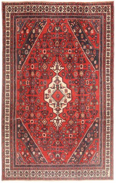 Hamadan Patina Rug 188X298 Authentic  Oriental Handknotted Dark Red/Dark Brown (Wool, Persia/Iran)