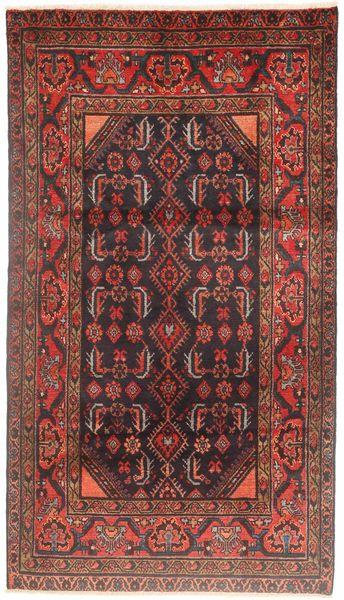 Hamadan Matto 112X200 Itämainen Käsinsolmittu Tummanpunainen/Ruskea (Villa, Persia/Iran)