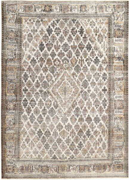 Colored Vintage Rug 240X333 Authentic  Modern Handknotted Light Grey/Beige (Wool, Persia/Iran)