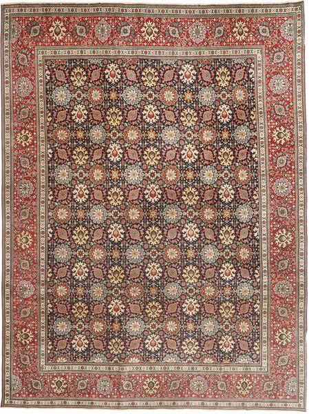 Tabriz Patina Matto 250X338 Itämainen Käsinsolmittu Vaaleanruskea/Tummanruskea Isot (Villa, Persia/Iran)
