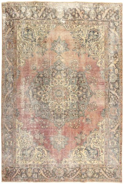 Colored Vintage Rug 210X303 Authentic  Modern Handknotted Light Grey/Beige (Wool, Persia/Iran)