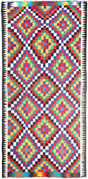 Kilim Rug 156X313 Authentic  Oriental Handwoven Hallway Runner  Pink/Beige (Wool, Persia/Iran)