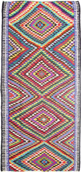 Kelim Teppe 172X365 Ekte Orientalsk Håndvevd Teppeløpere Rosa/Lilla (Ull, Persia/Iran)