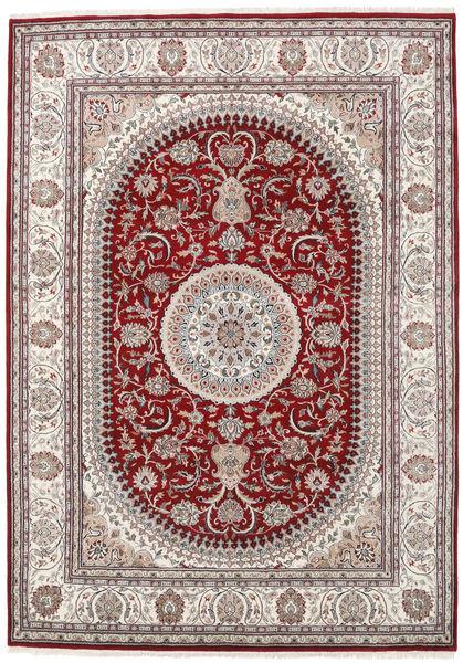 Nain Indisk Teppe 253X357 Ekte Orientalsk Håndknyttet Lys Grå/Brun Stort ( India)