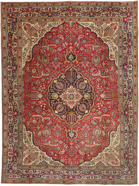 Tabriz Patina Rug 293X390 Authentic  Oriental Handknotted Dark Red/Rust Red Large (Wool, Persia/Iran)