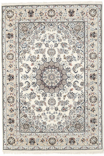 Nain Indo Rug 170X247 Authentic  Oriental Handknotted Light Grey/Beige ( India)