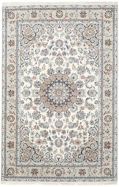 Nain Indo Rug 196X301 Authentic  Oriental Handknotted Light Grey/Beige ( India)