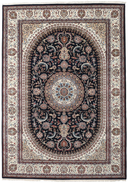 Nain Indo Rug 252X355 Authentic  Oriental Handknotted Light Grey/Dark Brown Large ( India)