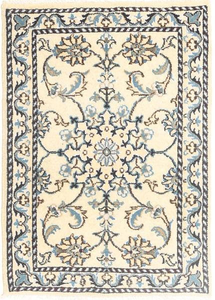 Nain Dywan 60X90 Orientalny Tkany Ręcznie Beżowy/Jasnoszary (Wełna, Persja/Iran)