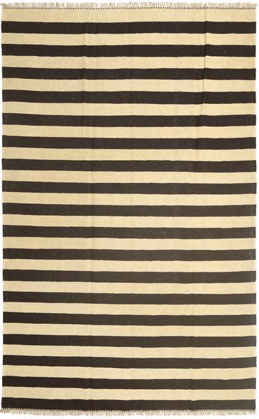 Kelim Teppe 185X295 Ekte Orientalsk Håndvevd Mørk Grå/Beige (Ull, Persia/Iran)
