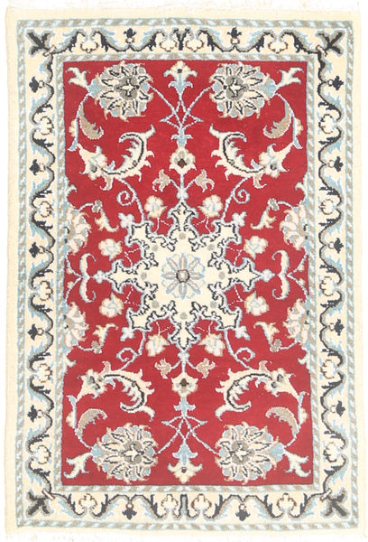 Nain Tappeto 60X90 Orientale Fatto A Mano Grigio Chiaro/Beige (Lana, Persia/Iran)