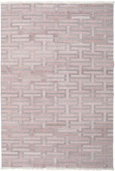 Path - Brown/Pink Rug 200X300 Authentic  Modern Handwoven Light Grey/Dark Beige ( India)